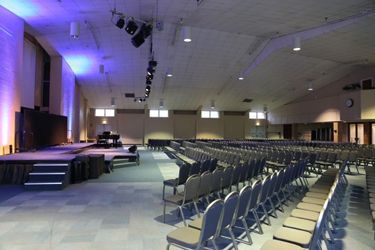 Main Hall Theatre Layout - Left Side View 2